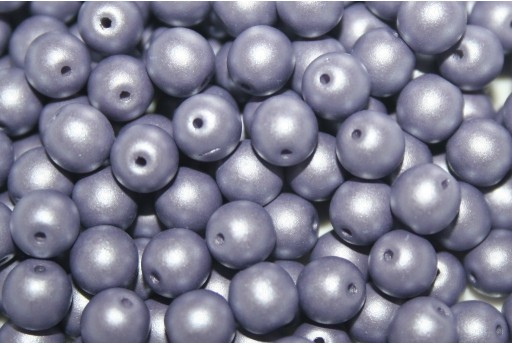 Czech Round Beads Powdery Lilac 6mm - 50pcs