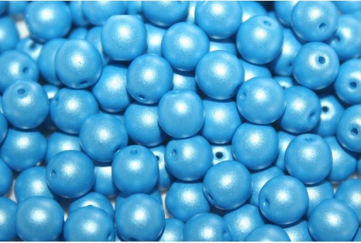 Czech Round Beads Powdery Light Blue 6mm - 50pcs