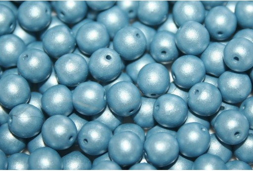 Czech Round Beads Powdery Ocean 6mm - 50pcs
