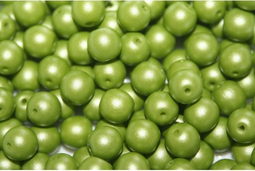 Tondi Vetro di Boemia Powdery Lime 6mm - 50pz