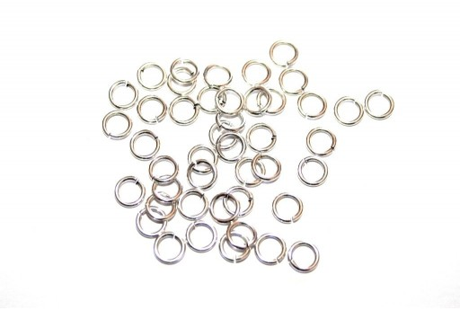 Brass Jump Rings Silver 5mm - 30pcs