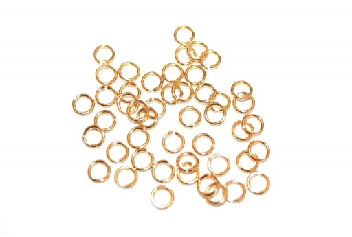 Brass Jump Rings Gold 5mm - 30pcs