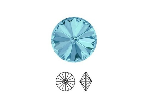 Swarovski Rivoli 12mm 2pcs Aquamarine 1122