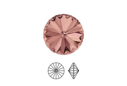 Swarovski Rivoli 12mm 2pcs Blush Rose 1122