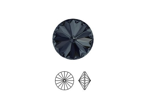 Swarovski Rivoli 12mm 2pcs Graphite 1122
