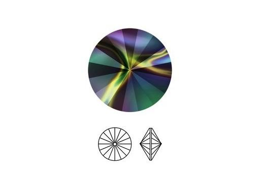 Swarovski Rivoli Round Stone Rainbow Dark 1122 12mm - 2pcs