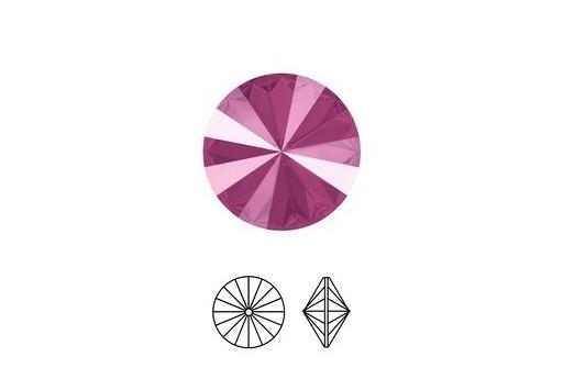 Swarovski Rivoli Round Stone Peony Pink 1122 12mm - 2pcs