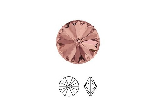 Swarovski Rivoli 14mm 2pcs Blush Rose 1122
