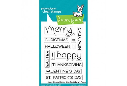 Clear Stamps Happy Happy Happy Add-On - Lawn Fawn