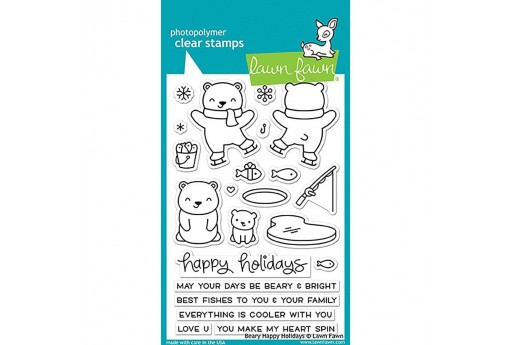 Clear Stamps Beary Happy Holidays - Lawn Fawn