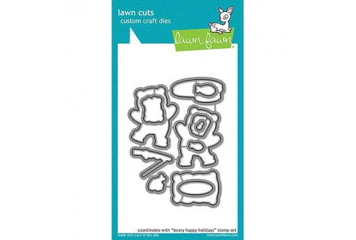Cutting Dies Beary Happy Holidays - Lawn Fawn