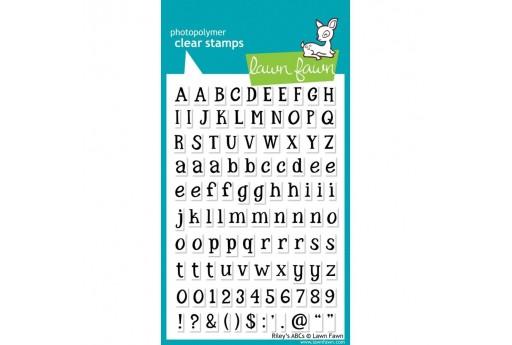 Timbri Alfabeto Riley's ABCs - Lawn Fawn