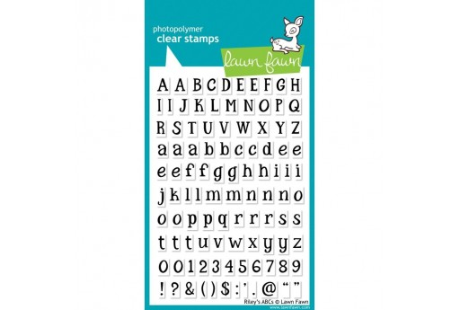 Clear Stamps Riley's ABCs - Lawn Fawn