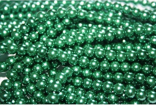 Glass Pearls Strand Light Green 6mm - 74pcs