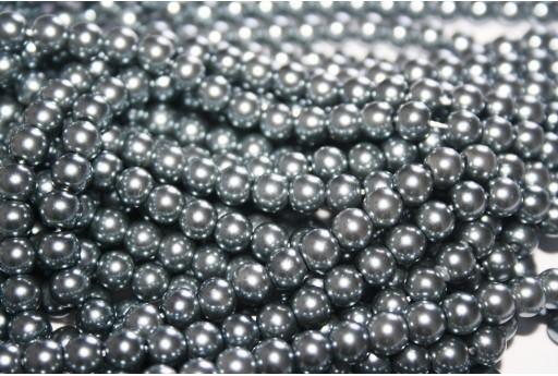 Perle Cerate Vetro Grigio Chiaro 6mm - 74pz
