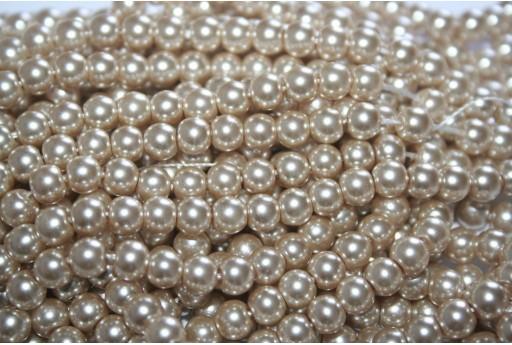 Perle Cerate Vetro Beige Chiaro 6mm - 74pz