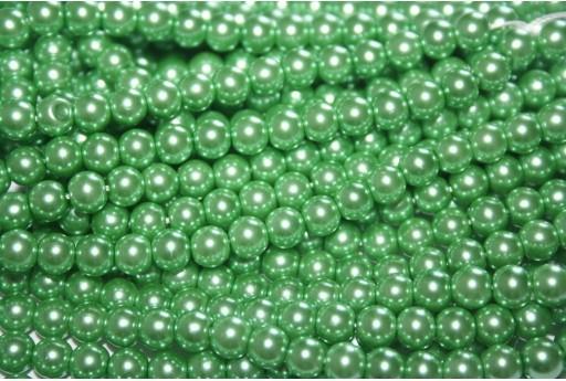 Perle Cerate Vetro Verde Chiaro 6mm - 74pz