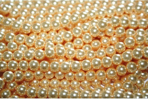 Glass Pearls Strand Gold 6mm - 74pcs