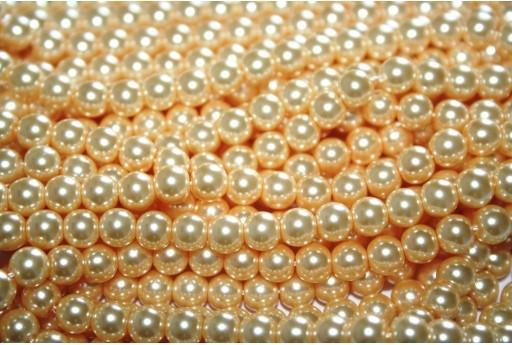 Perle Cerate Vetro Oro 6mm - 74pz