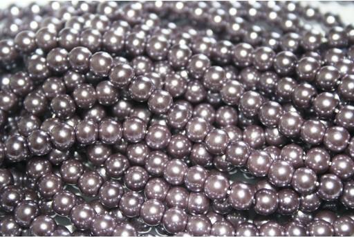 Perle Cerate Vetro Tortora 6mm - 74pz