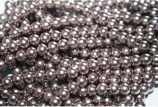Perle Cerate Vetro Bronzo 6mm - 74pz