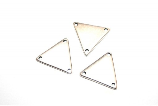 Component Triangular With 3 Hole Silver 17x19mm - 2pcs