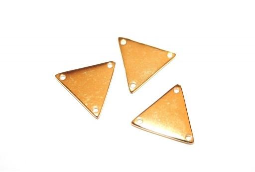 Componente Metallo Oro Triangolo 3 Fori 17x19mm - 2pz