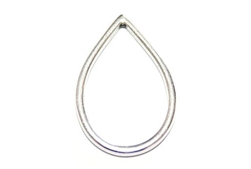 Drop Wireframe Silver 22x34,5mm - 2pcs