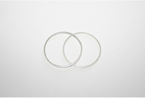 Ring Wireframe Silver 40mm - 2pcs