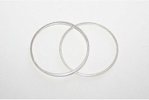Ring Wireframe Silver 50mm - 2pcs