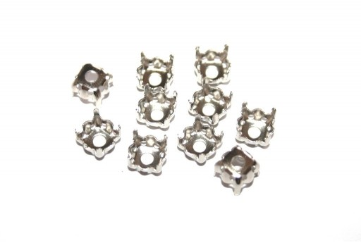 Platinum Setting for Chaton 1088 SS39 8X8mm - 10pcs