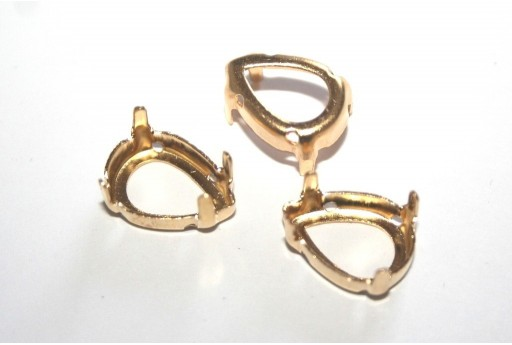 Gold Setting  for Drop 10X14mm - 10pcs
