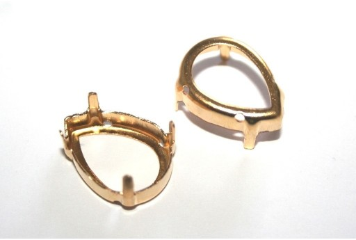 Gold Setting  for Drop 13x18mm - 6pcs