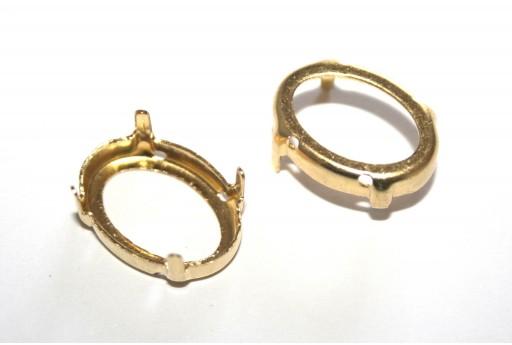 Castone per Ovale Oro 13x18mm - 6pz