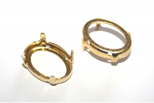 Gold Setting  for Oval 13x18mm - 6pcs