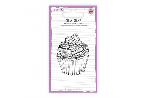 Clear Stamp Cupcake Dovecraft 5x7cm