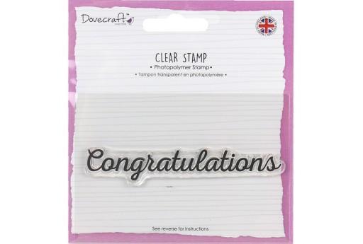 Timbro Congratulations Dovecraft 9x1cm