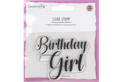 Timbro Birthday Girl Dovecraft 7x8cm