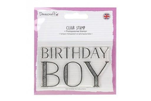 Clear Stamp Birthday Boy Dovecraft 6x9cm