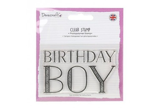 Timbro Birthday Boy Dovecraft 6x9cm