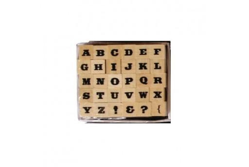 Stamps Set Alphabet Font 4 Dovecraft - 8mm - 30pcs