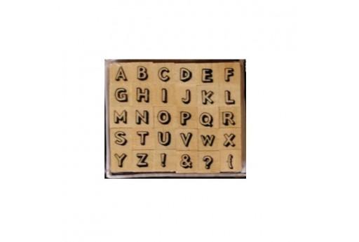 Stamps Set Alphabet Font 5 Dovecraft - 8mm - 30pcs
