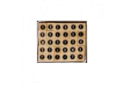 Stamps Set Alphabet Font 8 Dovecraft - 8mm - 30pcs