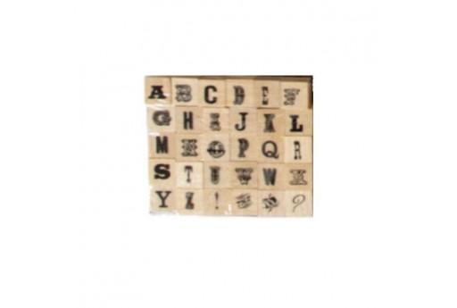 Stamps Set Alphabet Font 10 Dovecraft - 8mm - 30pcs