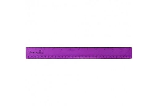 Craft Ruler with Metal Edge Dovecraft 30cm 12 inch