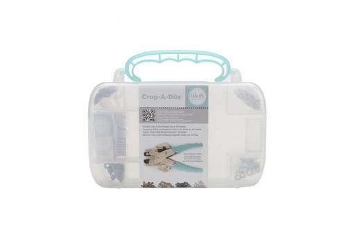 Storage Case Crop-A-Dile and 100 eyelets We R Memory Keepers