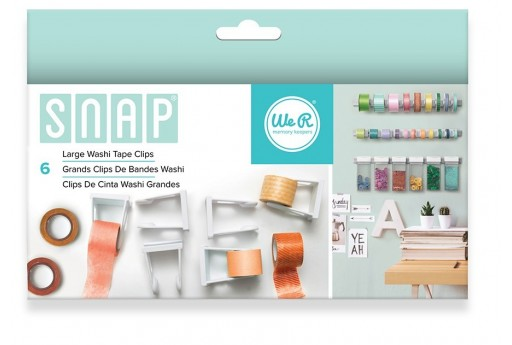 Snap Clips per Washi Tape Grandi We R Memory Keepers - 6pz