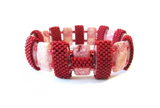 Double Carrier Chalk White Teracota Red Bracelet Kit