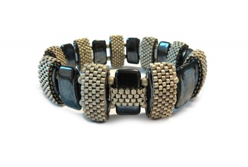 Kit Bracciale Double Carrier Jet Hematite