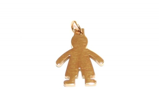 Stainless Steel Boy Charms Golden18x14mm -1pcs